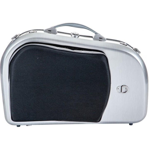 La Defense Hightech Brushed Aluminum French Horn Case