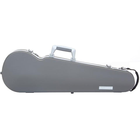 Image of Bam Panther Grey Contoured Violin Case - Front