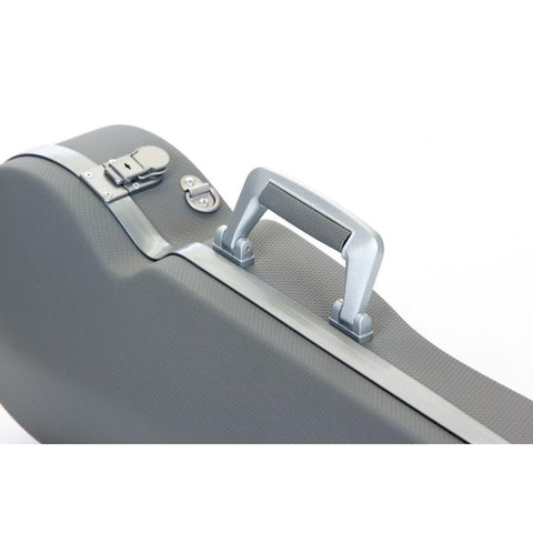 Image of Bam Panther Grey Contoured Violin Case - Side
