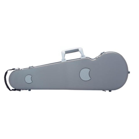 Image of Bam Panther Grey Contoured Violin Case - Back