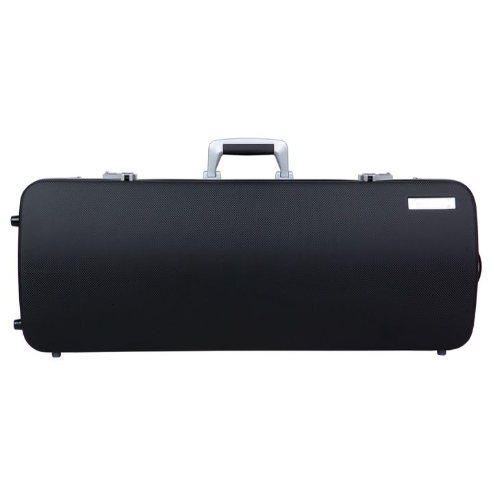 Bam Panther Black Hightech Oblong Viola Case - Front