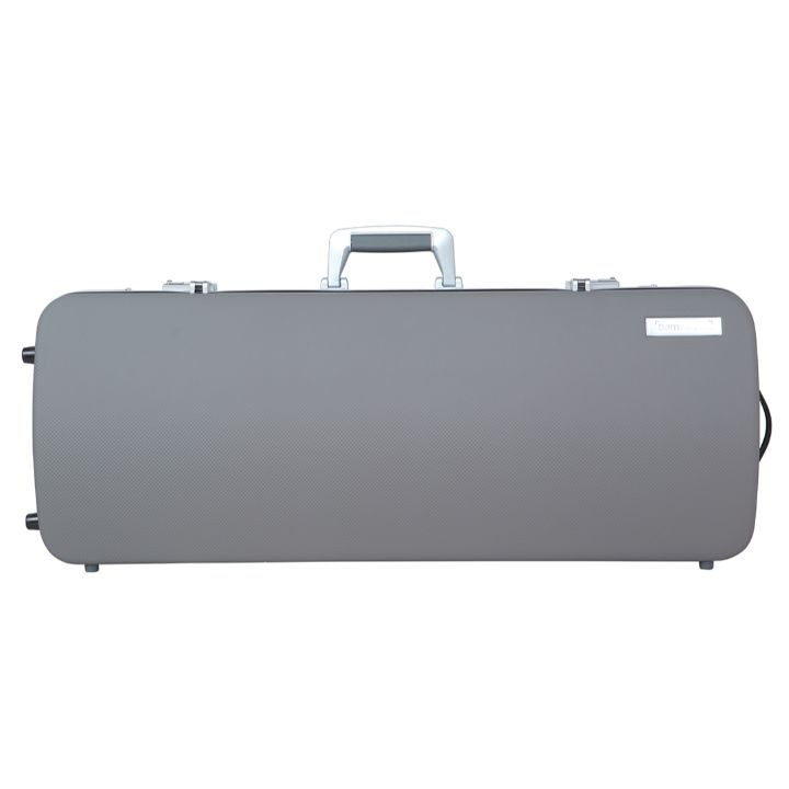 Bam Panther Gray Hightech Oblong Viola Case - Front