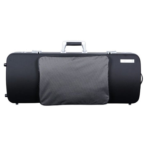 Bam Panther Black Hightech Oblong Viola Case with Pocke - Front