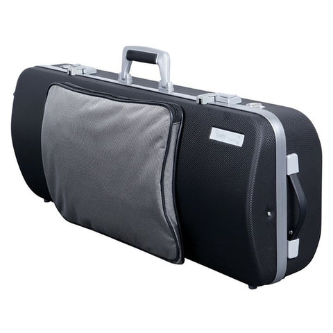 Image of Bam Panther Black Hightech Oblong Viola Case with Pocke - Side