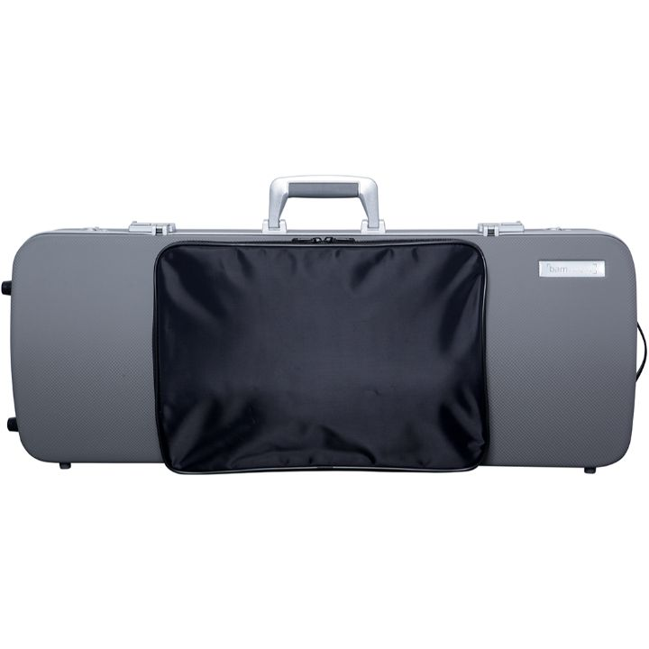 Bam Panther Gray Hightech Oblong Viola Case with Pocket - Front