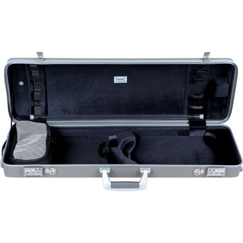 Bam Panther Oblong Gray Violin Case -Interior