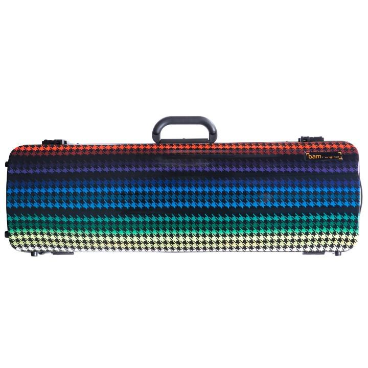 colorful oblong violin case
