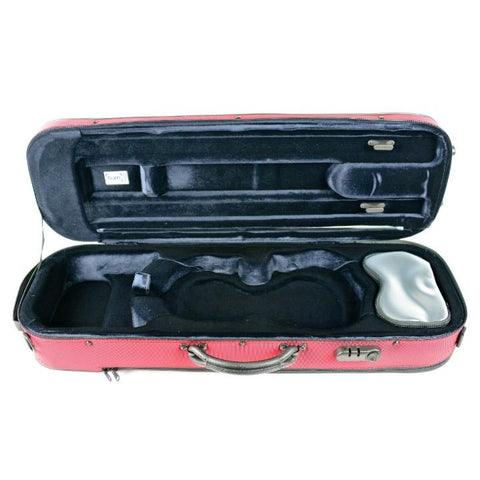Image of Bam Oblong Violin Case red