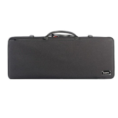 bam double violin case black