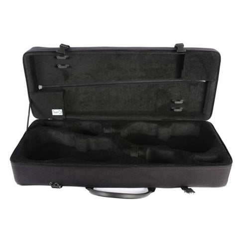 Image of bam double violin case black