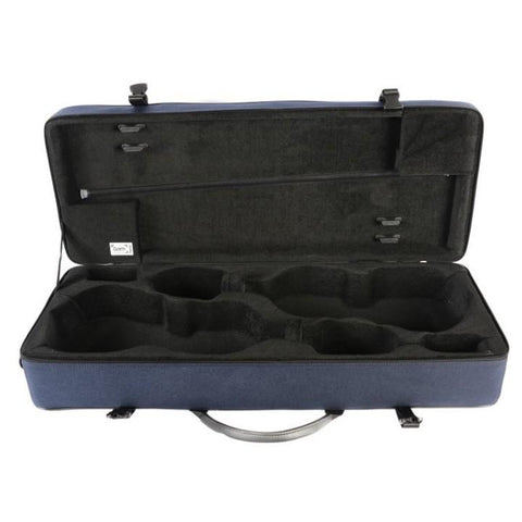bam blue double violin case