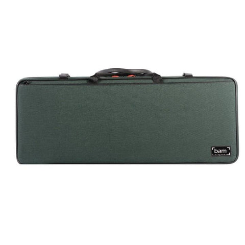 Image of green double violin case