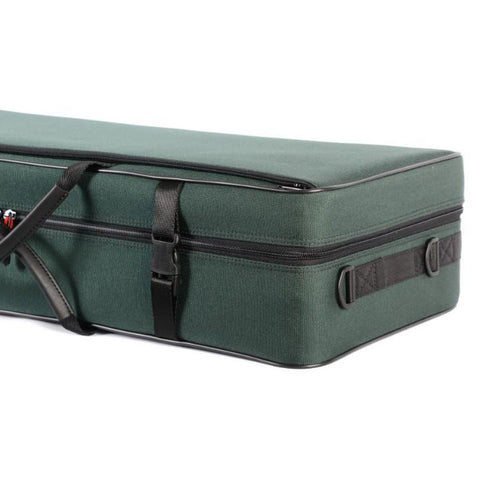 green double violin case