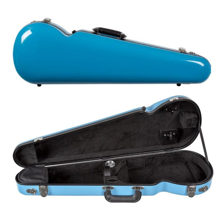 Bobelock 1063 Fiberglass Shaped Violin Case Sky Blue