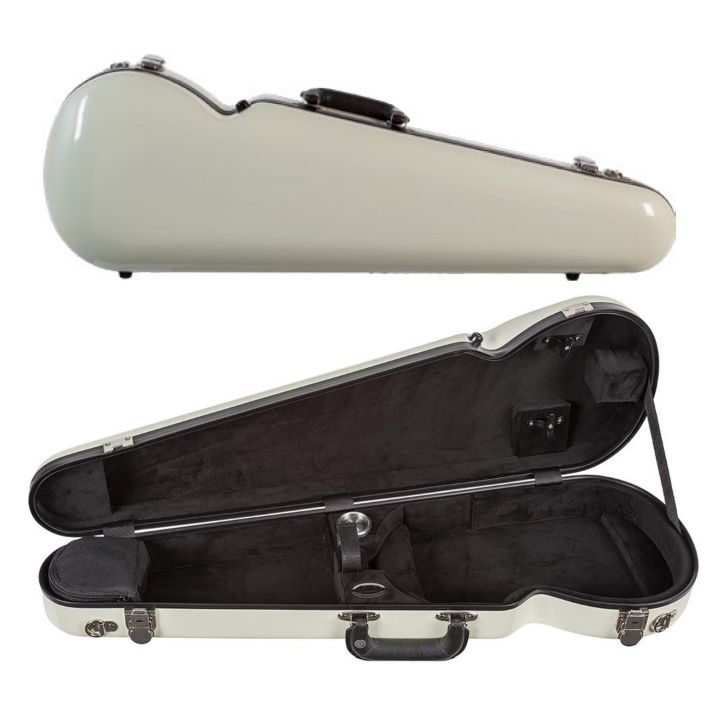 Bobelock 1063 Fiberglass Shaped Violin Case White
