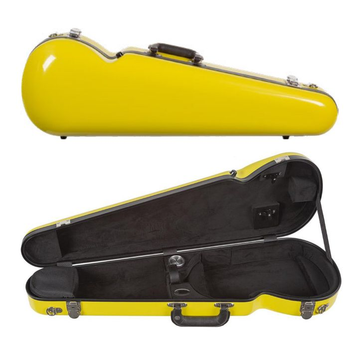 Bobelock 1063 Fiberglass Shaped Violin Case Yellow
