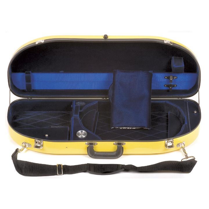 Bobelock 2048 Yellow Fiberglass Half Moon Viola Case  - Interior