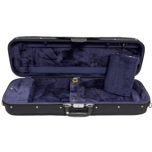 Bobelock Blue Velour 1002 Oblong Suspension Violin Case - Interior