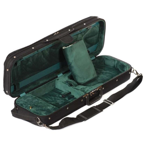 Green interior violin case