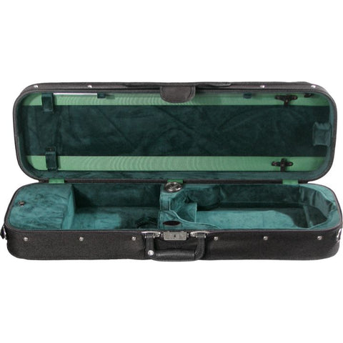 Bobelock 1002 Oblong Green Velour Suspension Violin Case - Interior