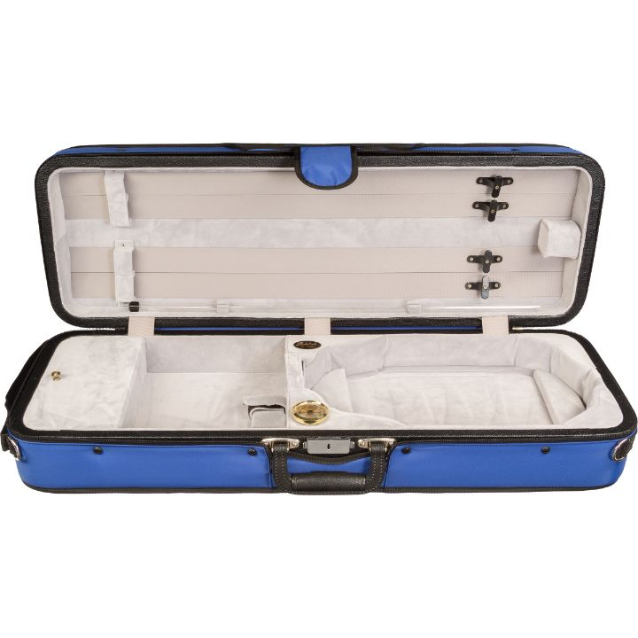 Bobelock 1003 Featherlite Puffy Oblong Violin Case Blue - Interior