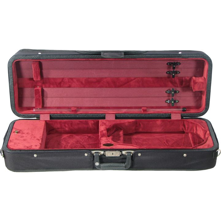 Bobelock Red Velour 1003 Featherlite Oblong Violin Case - Interior