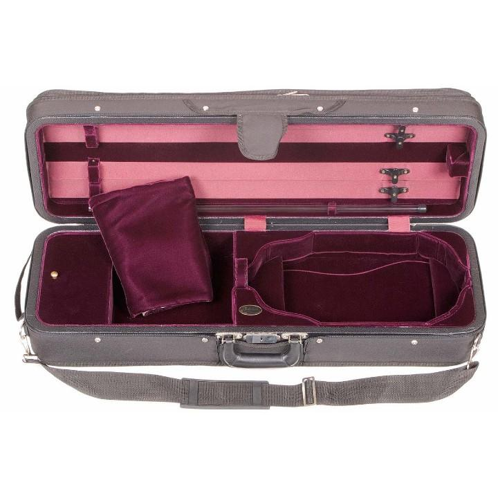 Bobelock Red 1003 Featherlite Oblong Violin Case - Interior