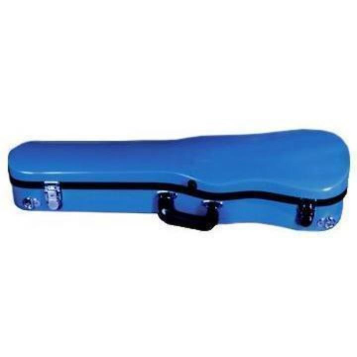 Bobelock Blue 1007 Fiberglass Shaped Violin Case - Front