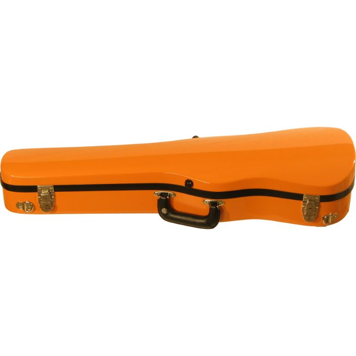 Bobelock Orange 1007 Fiberglass Shaped Violin Case - Front