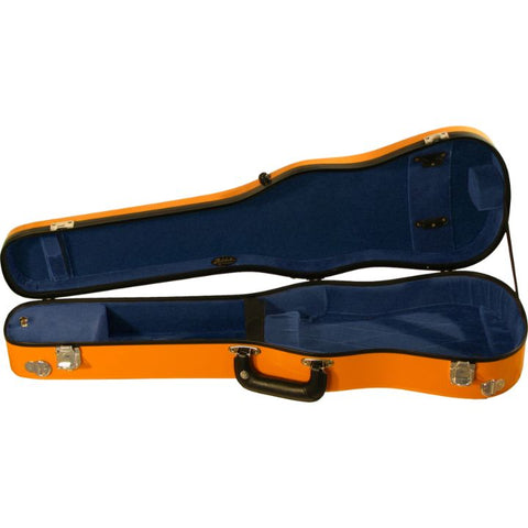 Bobelock Orange 1007 Fiberglass Shaped Violin Case - Interior