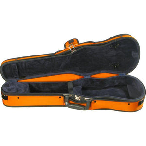 Bobelock Orange 1007 Puffy Shaped Violin Case - Interior