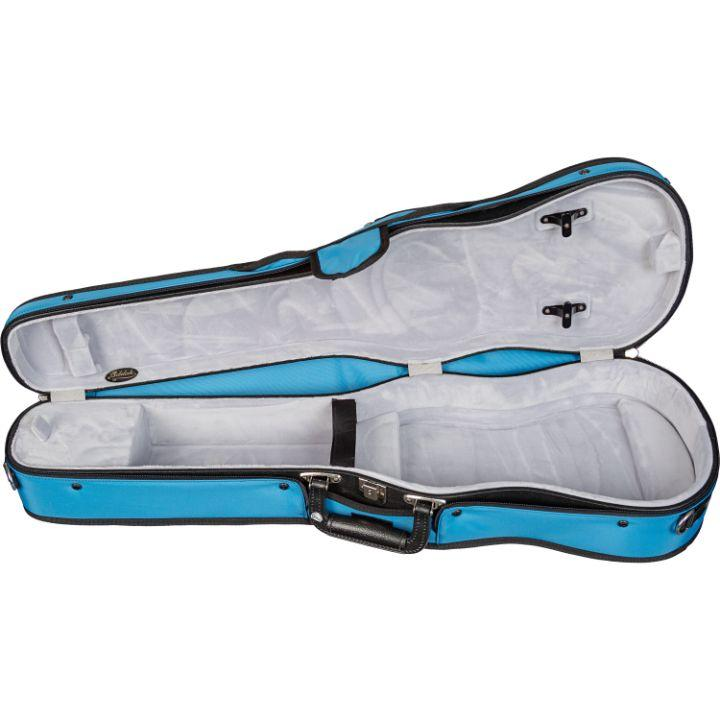 Bobelock Sky Blue 1007 Puffy Shaped Violin Case - Interior