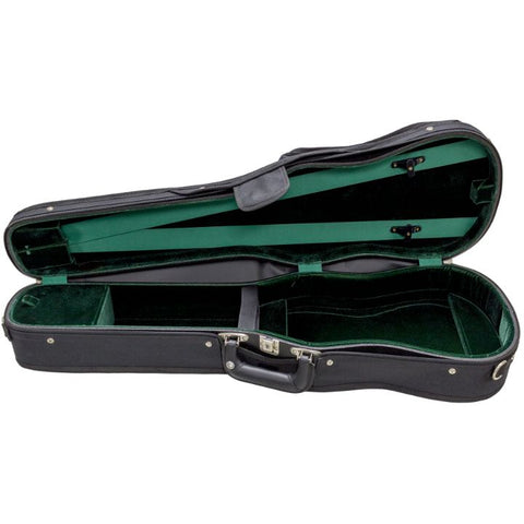 Image of Bobelock Green 1007 Wooden Shaped Violin Case - Interior