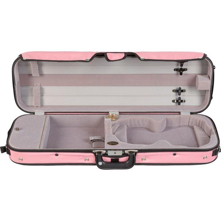 Pink Bobelock 16002 Puffy Oblong Violin Case - Interior