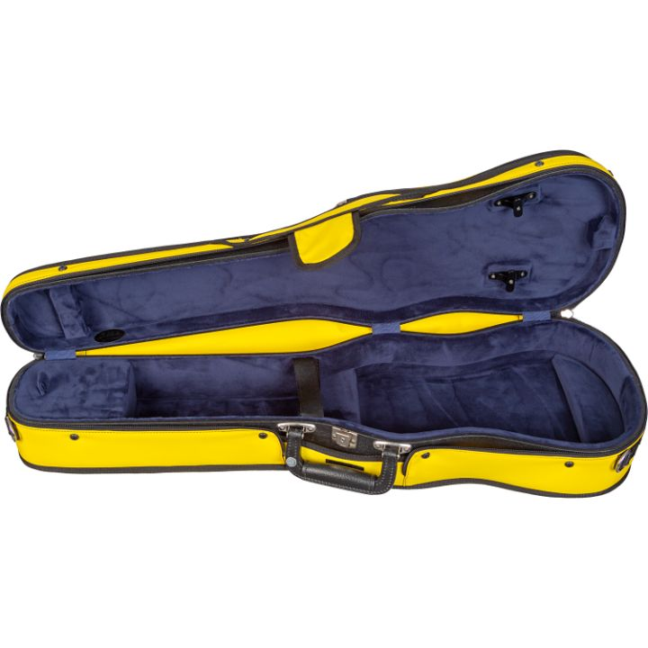 Bobelock Yellow 1007 Puffy Shaped Violin Case- interior