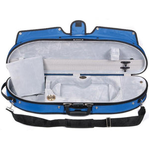 Bobelock 1047 Puffy Half Moon Violin Case Blue