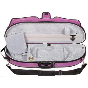 Bobelock 1047 Puffy Half Moon Violin Case Purple