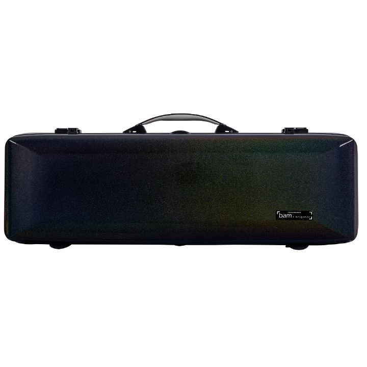Bam Supreme Cosmic Polycarbonate Oblong Violin Case Black