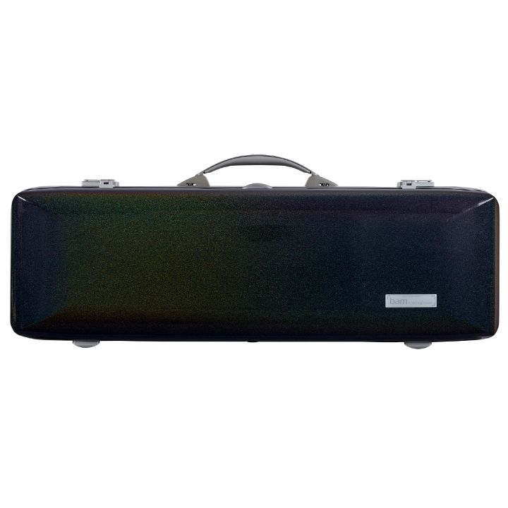 Bam Supreme Cosmic Polycarbonate Oblong Violin Case Silver