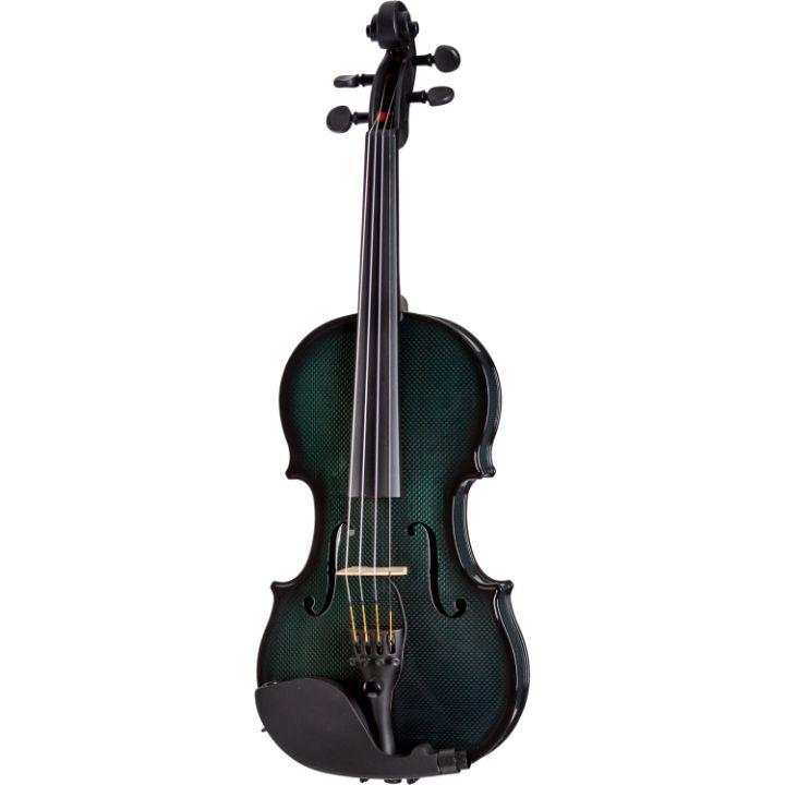 Glasser Carbon Composite Green Acoustic Electric Violin