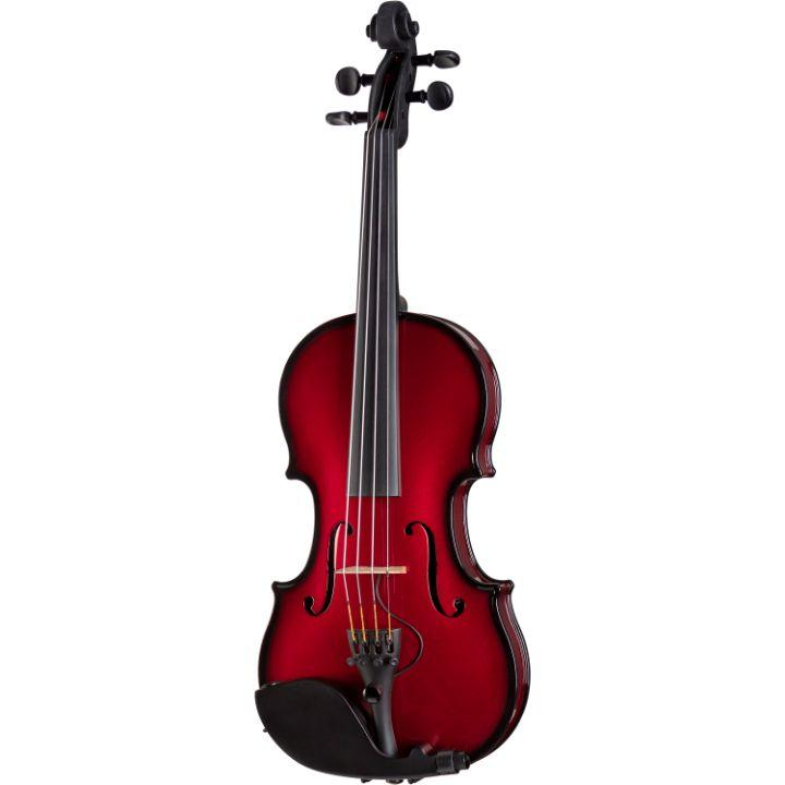 red electric acoustic violin sale