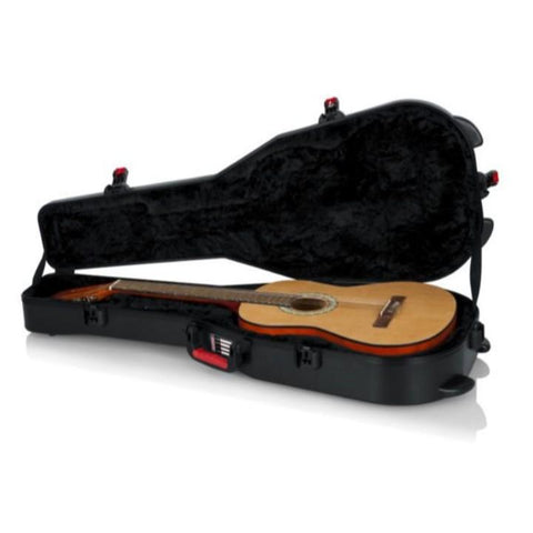 Gator Black TSA/ ATA Classical Guitar Case Interior With Guitar
