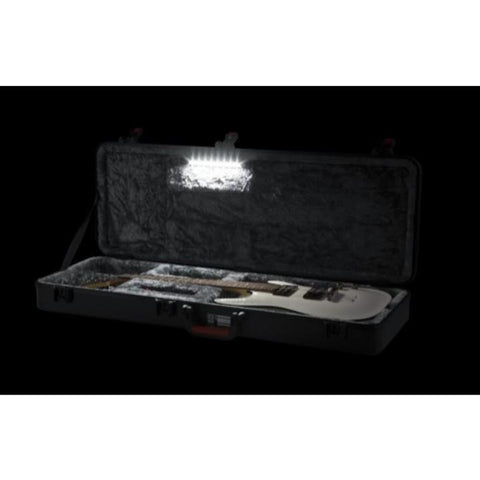 Gator TSA/ATA Molded Standard Electric Guitar Case with LED Light