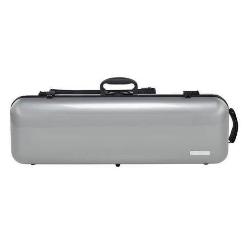 Image of Gewa Air 2.1 Metallic Silver Oblong Violin Case - Front
