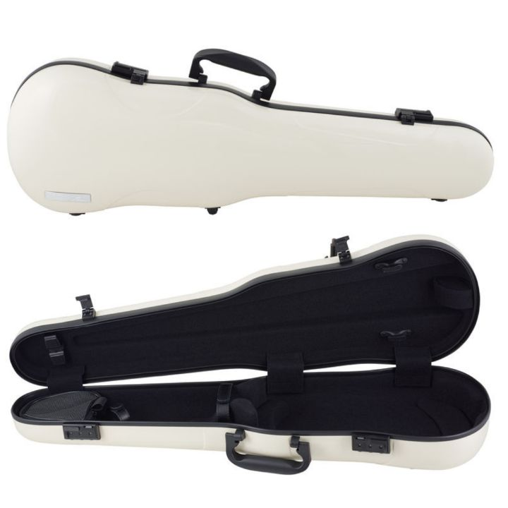 Gewa Air 1.7 Beige Shaped Violin Case- Front and interior
