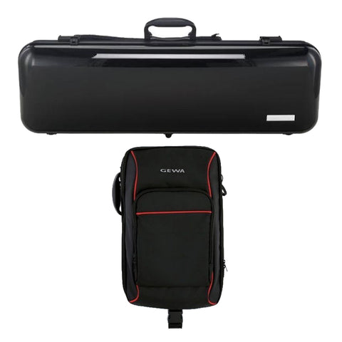 Gewa Air 2.1 Black Oblong Violin Case with Rucksack