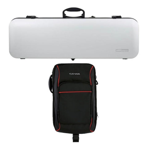 Gewa Air 2.1 Matte White Oblong Violin Case with Rucksack