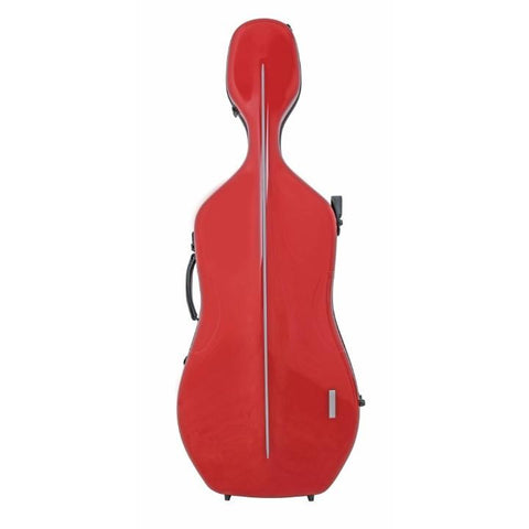 red cello case light