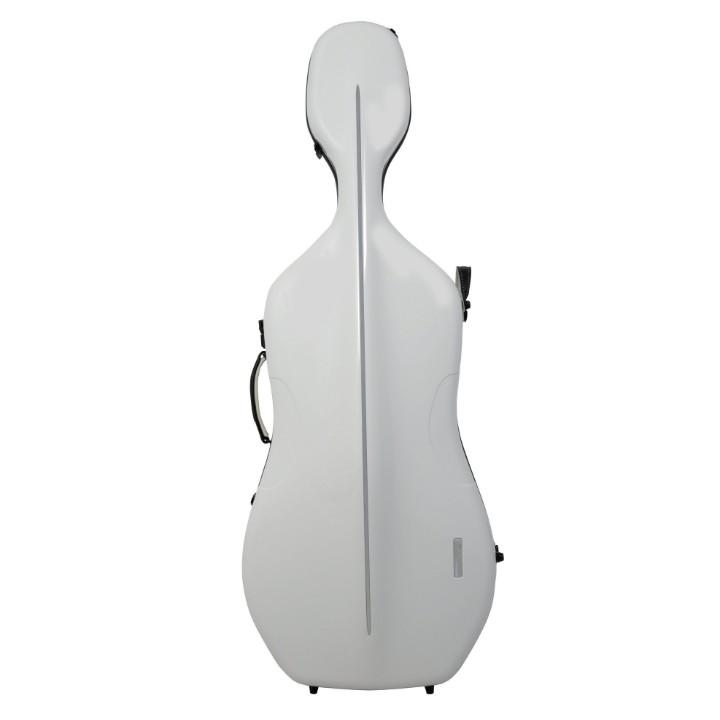 Cello Case White/Burgundy Interior