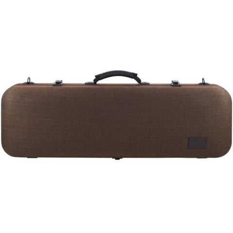 Image of Gewa Bio-S Brown Oblong Violin Case - Front